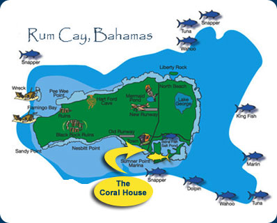 Rum Cay Islands of the Bahamas Location History Facilities for